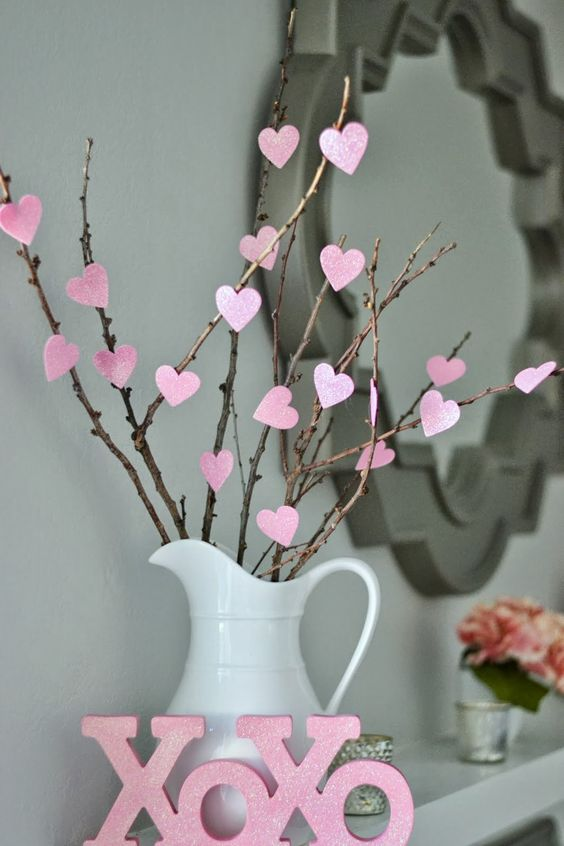Decoration Saint-Valentin bougie parfumee
