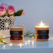 bougie parfumee naturelle cedre rose made in france cyor