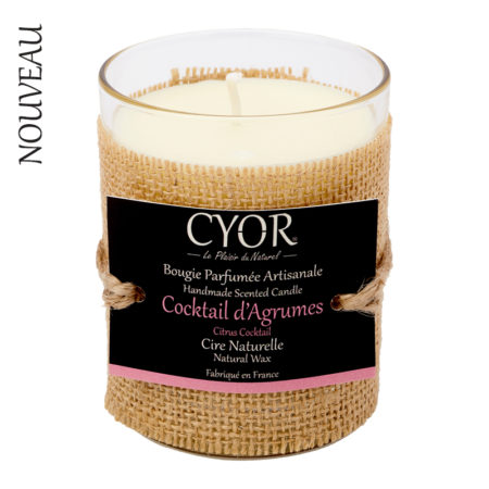bougie naturelle parfumée cocktail d'agrumes cyor